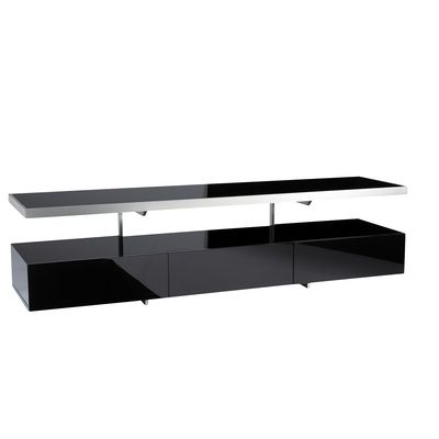 The floating shelf on this contemporary TV unit rises above ample size drawers offering great storage for DVDs. Its compact size offers a great solution when faced with limited space issues. Also available in a compact size. Now £299.