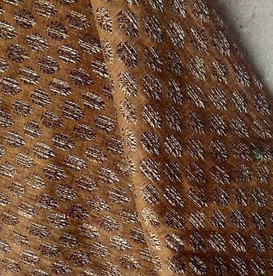現品限144cm★インド・ザリ(モール)刺繍★服・バッグ用素材 - ボンベネーゼ
