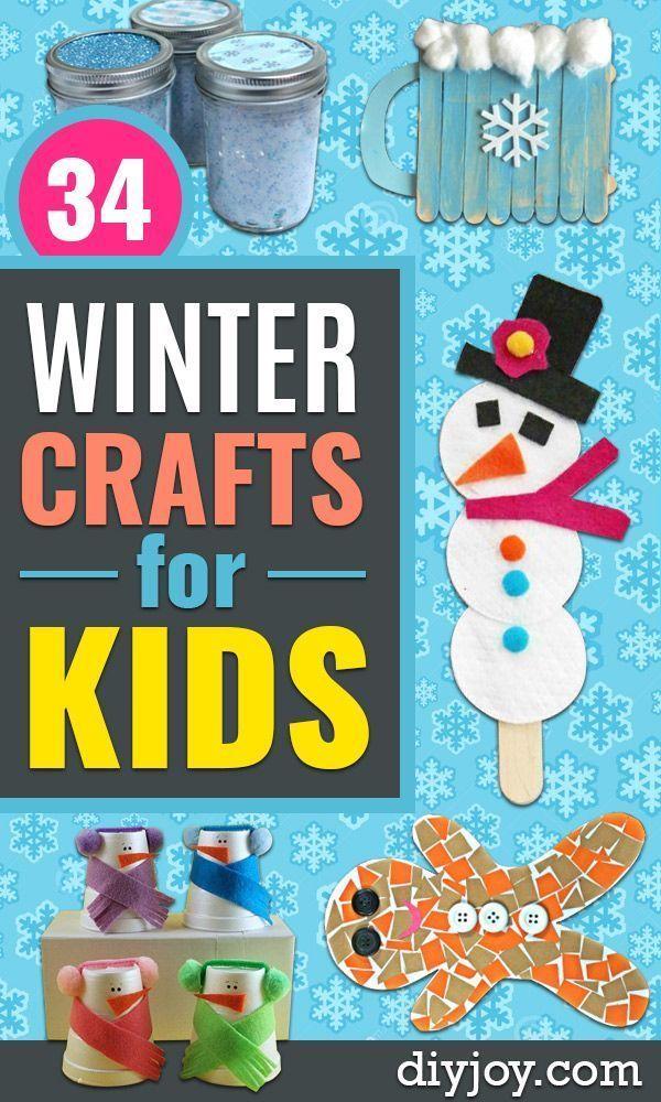 winter basteln für kleinkinder und kinder  einfache