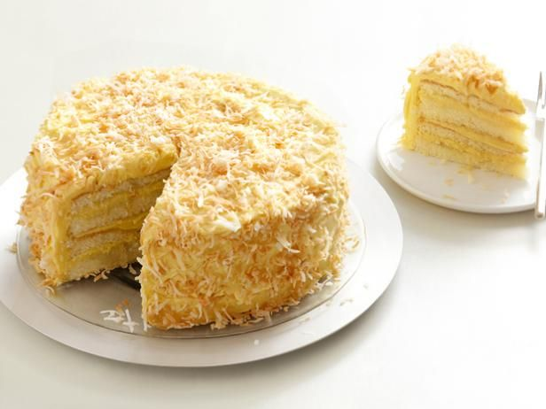Great for a celebration: Bobby's Toasted Coconut Cake with Coconut Filling and ButtercreamCake Recipe, Coconut Custard, Toasted Coconut, Cake Filling, Coconut Cakes, Coconut Filling, Toast Coconut, Food Recipe, Birthday Cake