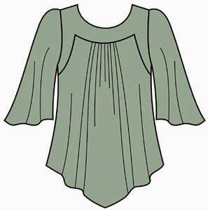 Patrón gratis: blusa con canesú, especial tallas grandes - yo elijo Coser                                                                                                                                                      Más