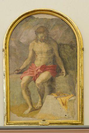 アンドレア・デル・サルト 《ピエタのキリスト》 1525年頃 フレスコ(壁から剥離)  アカデミア美術館