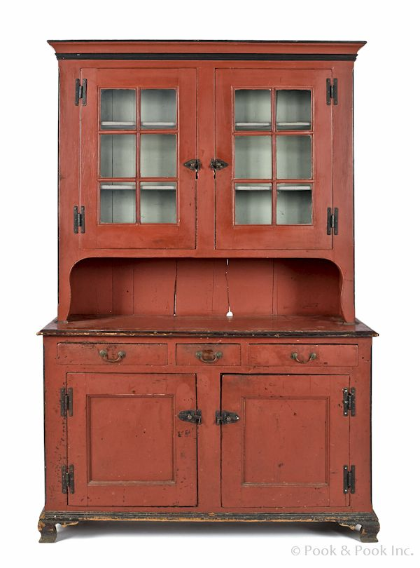 Pennsylvania painted pine Dutch cupboard  ca  1800  retaining a later  salmon decorated surface   Primitive Painted FurniturePrimitive. 465 best Primitive Cupboards images on Pinterest   Cupboards