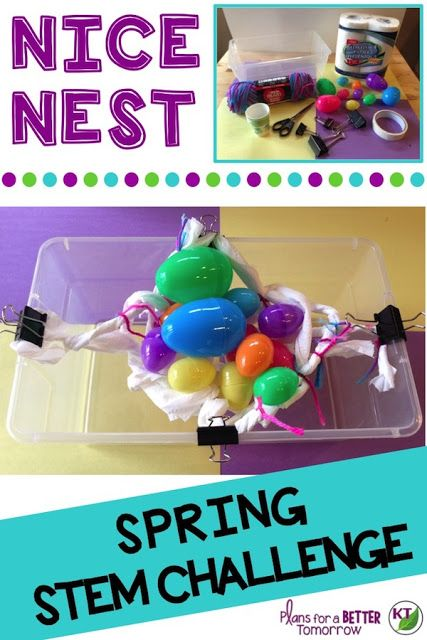 Spring STEM Challenge: In Nice Nest, design a nest built for maximum capacity! Comes with modifications for grades 2-8.