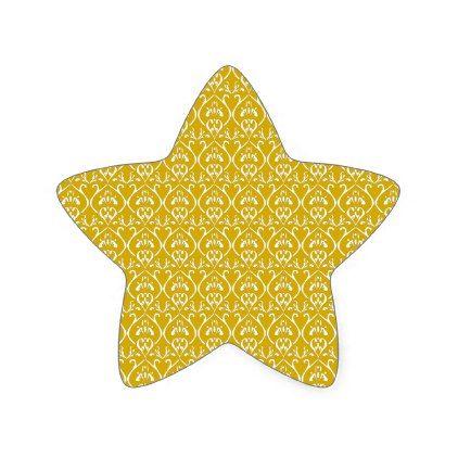 Retro-classical design in gold star sticker - patterns pattern special unique design gift idea diy