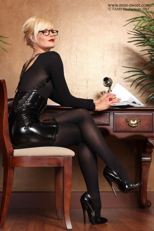image Gilf leather gloves blowjob