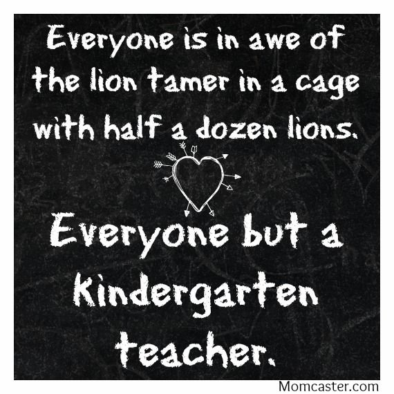 Teacher appreciation quote LOVE Kindergarten