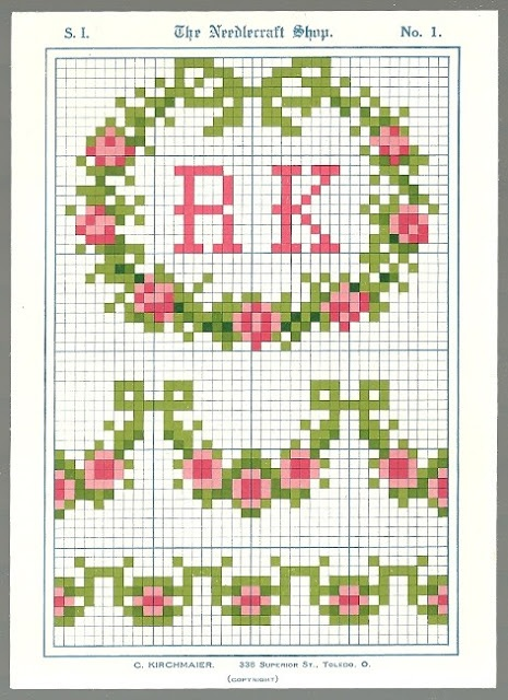 Free vintage cross stitch patterns!