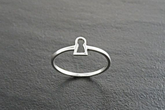 Anillo de cerradura anillo  cerradura plata esterlina by KRAMIKE