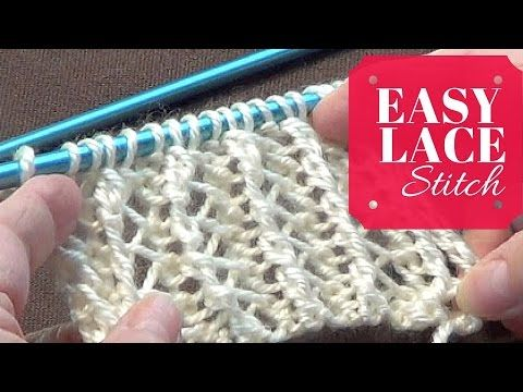 Easy Lace Stitch | One Row Repeat - YouTube