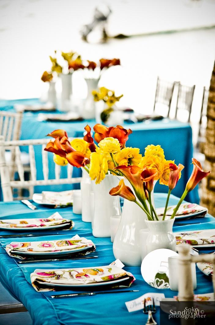 25 best ideas about teal orange weddings on pinterest - Yellow and orange wedding decorations ...