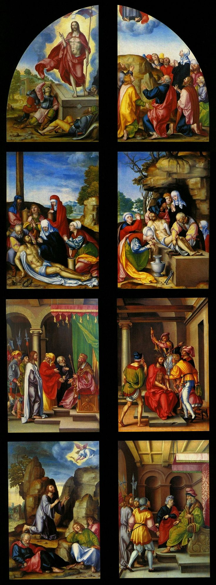 Exterior panels from the silver altarpiece by Georg Pencz, conception Hans Dürer, 1531-1538 (PD-art/old), Kaplica Zygmuntowska, commissioned by Sigismund I the Old