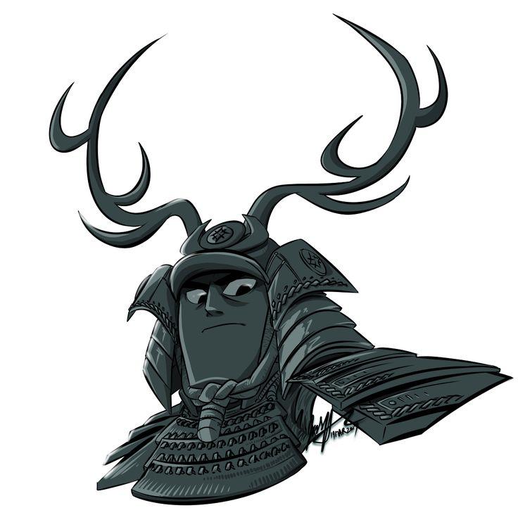 The Green Horseman from Samurai Jack: Season 5....   I Draw the Fanart
