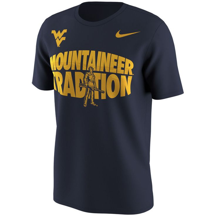 Men's Nike Navy West Virginia Mountaineers Fan Tradition T-Shirt