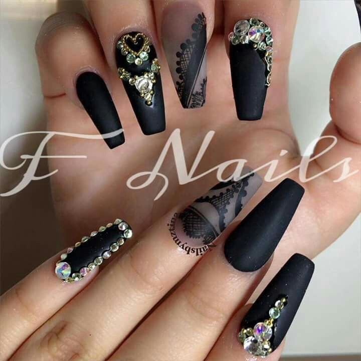 The 353 best Uñas color negro images on Pinterest | Black people ...