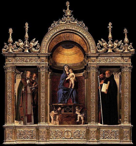Giovanni Bellini (circa 1430–1516) Frari Triptych Date1488Mediumoil on panelCurrent location Santa Maria Gloriosa dei Frari