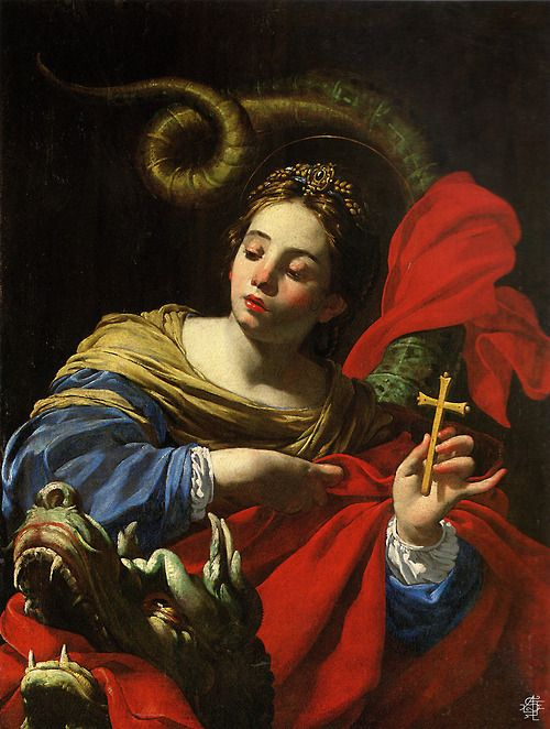 Saint Margaret by Simon Vouet (Vg-3). Saint Margaret, Queen of Scotland (consort to Malcom III) my 28th Great Grandmother.