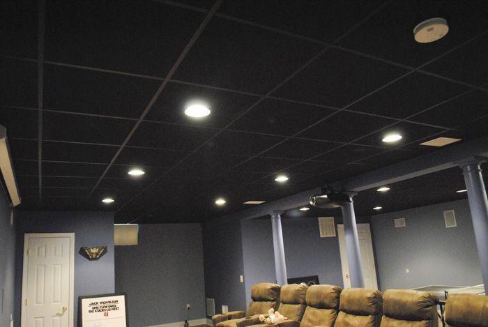 Basement Lighting Ideas Cool Designs Bathroom Design 20181229 Black Drop Ceiling Dropped Tiles
