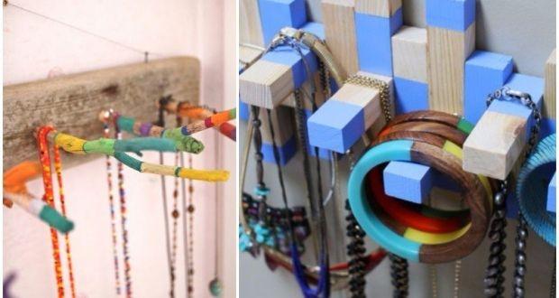 ideas para colgar collares, pendientes y pulseras