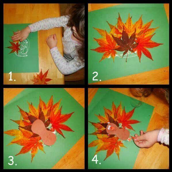Turkey leaf craft for the littles