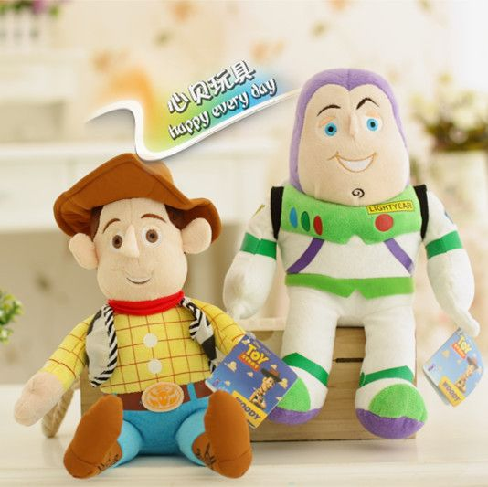 История игрушек базз лайтер и вуди плюшевые игрушки куклы комплект много