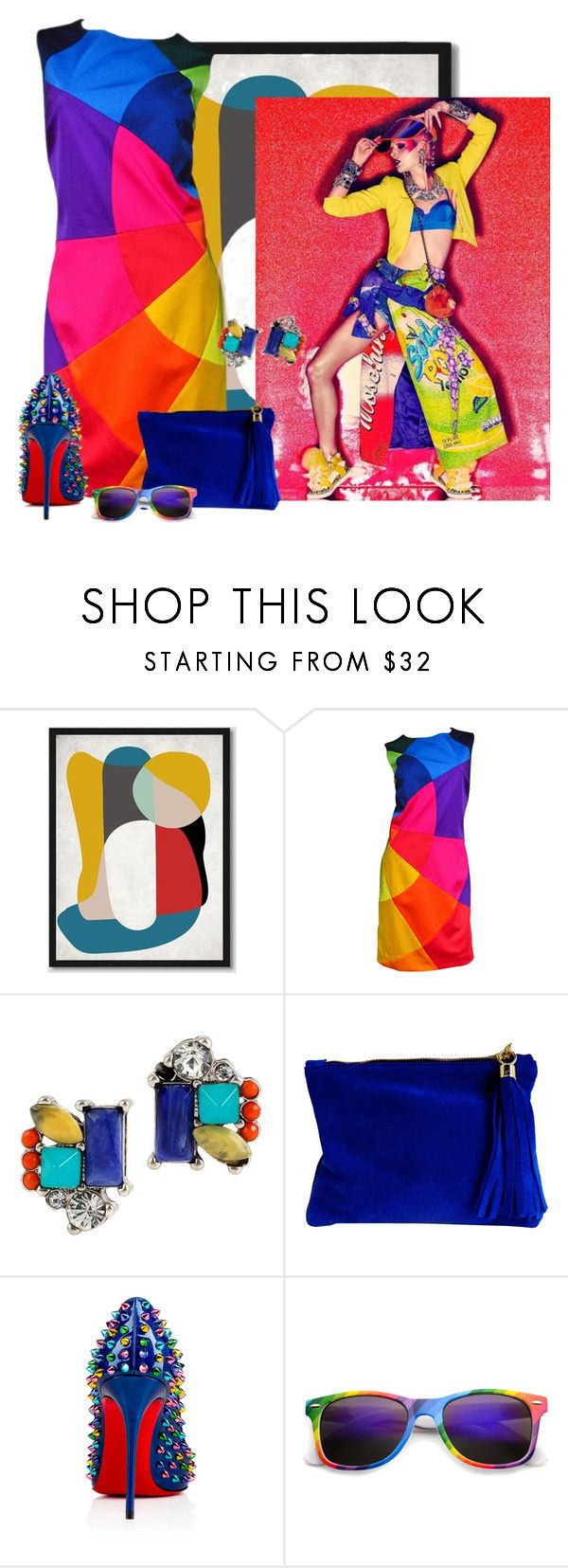 """""""Go Bold or Go Home"""" by cris-1121 ❤ liked on Polyvore featuring West Elm, Moschino, Kenneth Cole, Miller & Jeeves and Christian Louboutin"""
