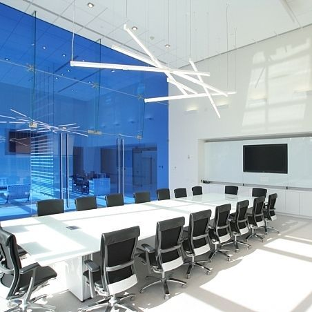 Suspended light fixture / fluorescent / linear FIVE BOW Architectural Lighting Works