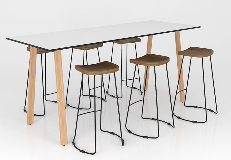 This combination of stools and bar table would be perfect to put in your open plan office without taking up much space.  http://www.jpofficeworkstations.com.au/cafe-bench/