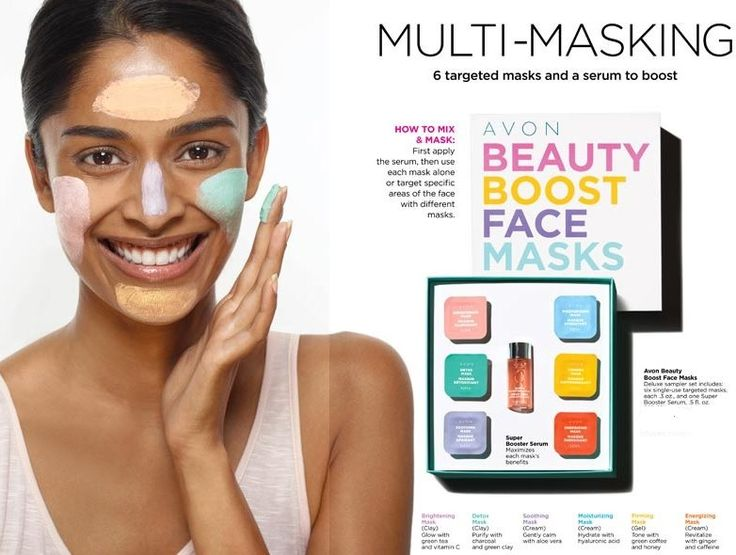 Image result for avon beauty boost face masks