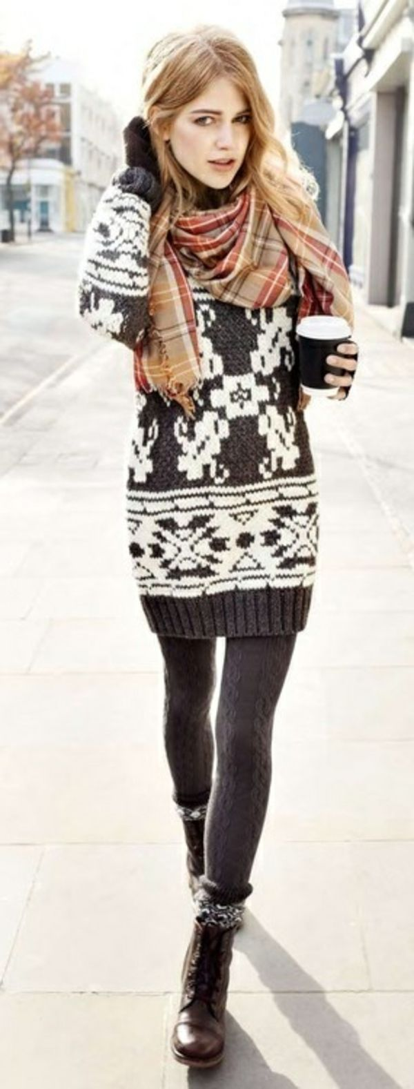 une robe pull d'hiver