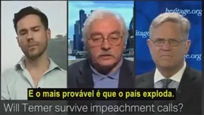 TV da Turquia destrói Michel Temer: É um tapa buraco. Não renuncia porque tem medo de ser preso