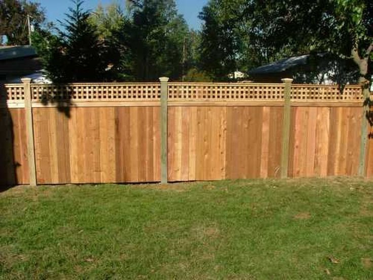 Cedar Lattice Top Fence Panels Woodworking Projects Amp Plans