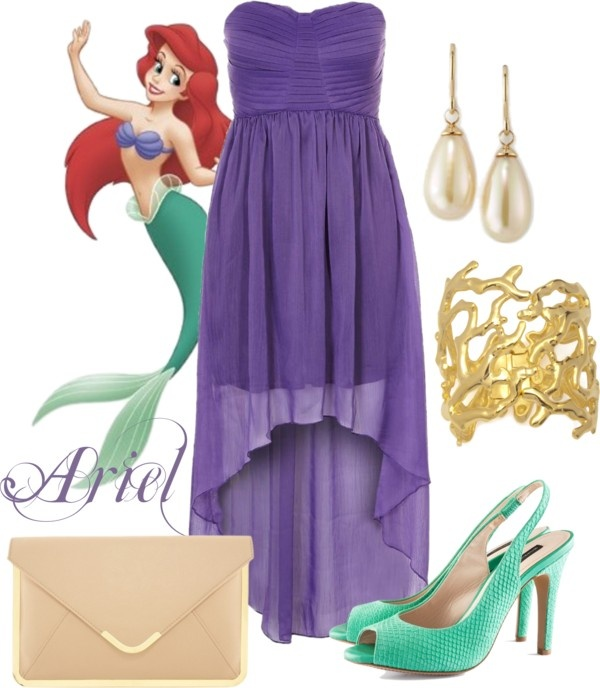 """Ariel Disney Princess Prom Outfit"" by natihasi on Polyvore"