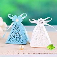 Pyramid Floral Cut-out Favors Boxes- Set Of 12(Mo... – USD $ 6.99