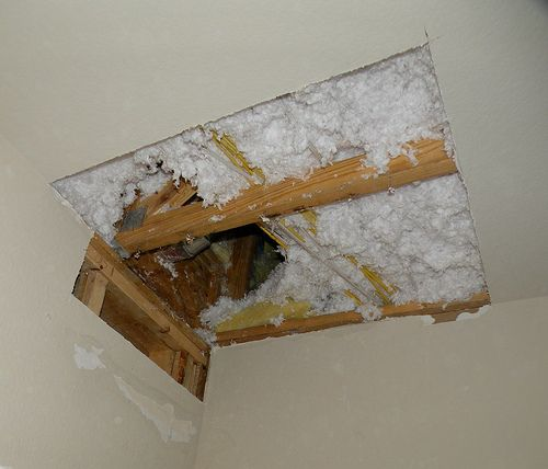 How To Repair A Sheet Rock Hole In Your Ceiling Complete