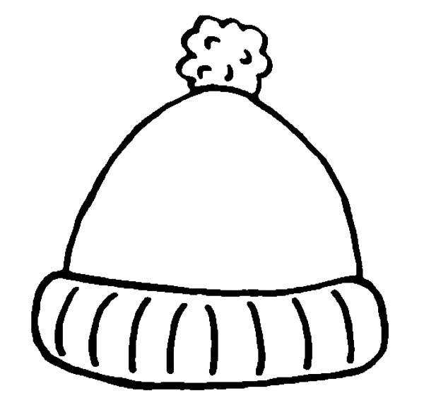 Winter Clothing Cute Hat For Winter In Winter Clothing Coloring Page Winter Hat Craft Winter Drawings Winter Preschool