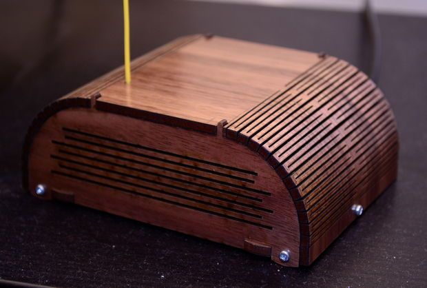 Picture of Laser-cut Arduino + radio enclosure