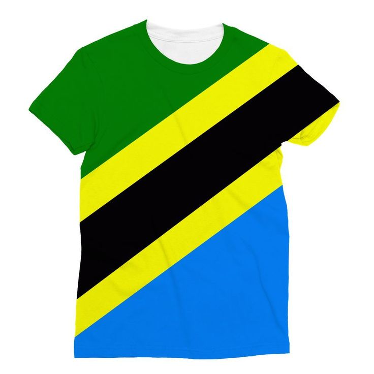 Flag of Tanzania Sublimation T-Shirt