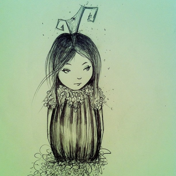 One of my favourite drawings by Sherri Dupree Bemis. Would love to have this cute little girl tattoo'd on me!