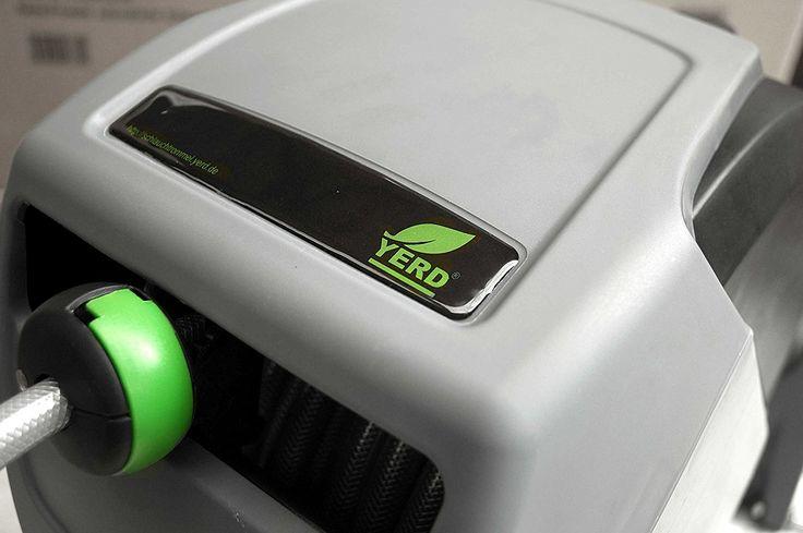 Automatische Schlauchtrommel YERD / Schlauch-Aufroller inkl. 1/2 Zoll Wasserschlauch und System-Gardena kompatiblen Anschlüssen (30 Meter): Amazon.de: Garten