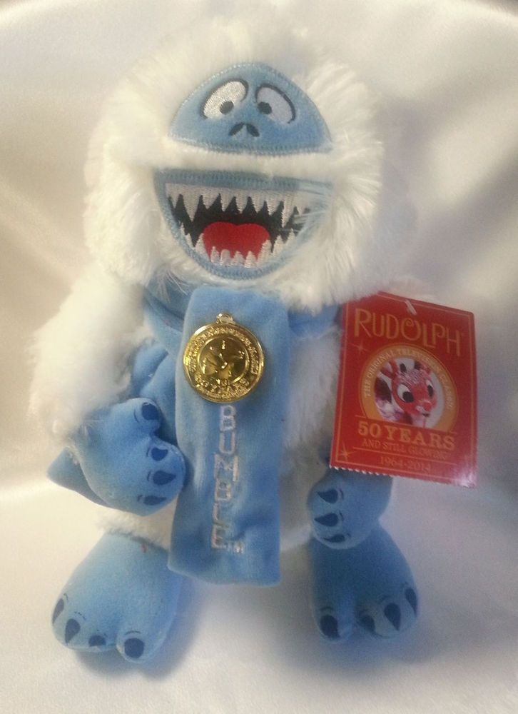 Bumble Rudolph Plush Stuffed Animal Snowman Special 50th Anniversary  #bumble #rudolph