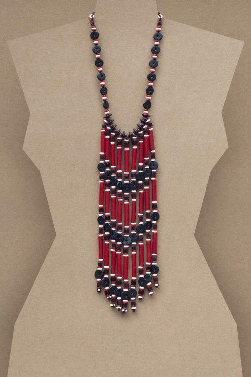 Amara Necklace #necklace #jewellery #jewelry #fashionaccessories #accessories #beadednecklace #ceramicbeads #ethnicstyle #bohostyle