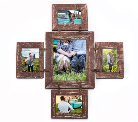 perfect family picture frames or kids photo frames 4x6 9 opening frames for 8x10 5x7 photos Rustic barn wood collage picture frames