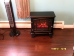 selling my electric fireplace for 20.00 obo The heat doesnt work, but would make a great piece of furniture for ambiance. 20 inches wide by 23 inches high.