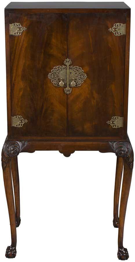 Antique Liquor Cabinet on Legs