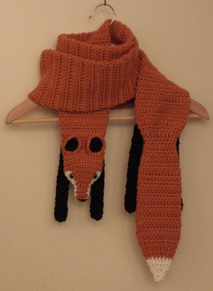 Gehaakte vossen sjaal