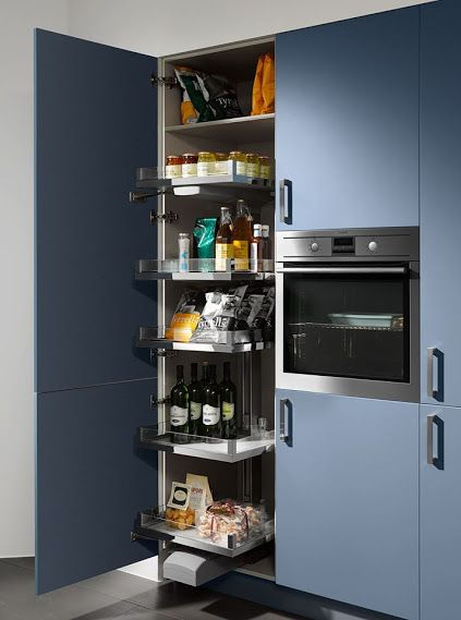 Marvelous Stocking up couldn ut be easier with this larder and sliding shelves from Nolte