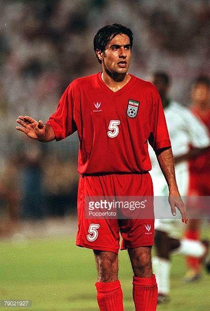 Sport Football 2002 World Cup Qualifier AFC Second Round Group A Jeddah 28th September 2001 Saudi Arabia 2 v Iran 2 Iran's Mohammad Peyravani