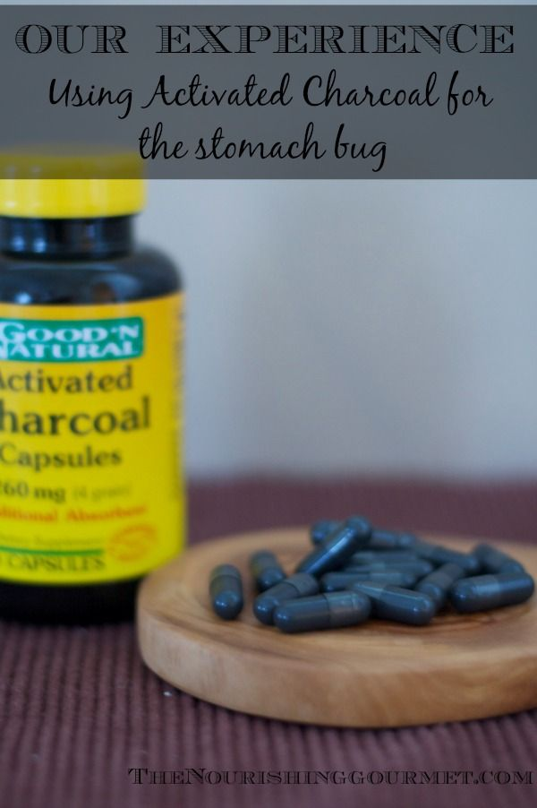 Our experience using activated charcoal for the stomach bug