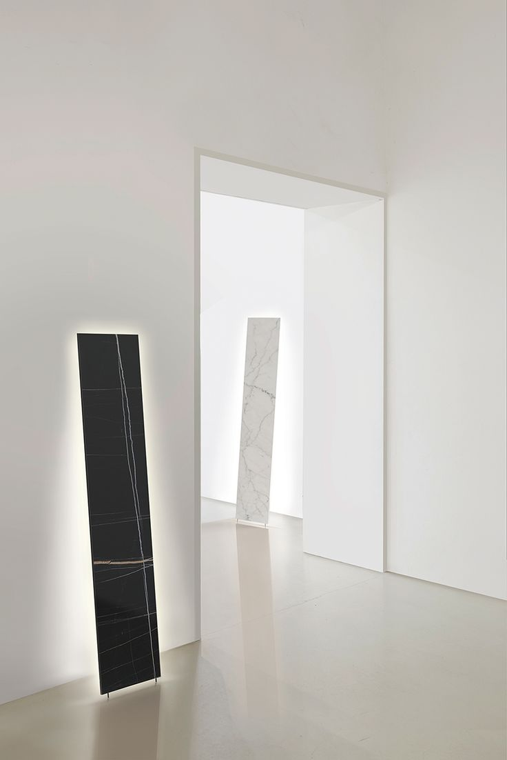 MONO Rectangular marble free-standing lamp or wall sconce with backside high-performance LED lights. www.inarchi.com #mono #floor #monofloor #inarchi #inarchilamps #lamp #lighting #monolith #marble #carrara #sharanoir #standing #minimal #interior #architecture